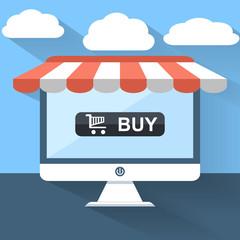 e-commerce concept flat design