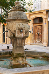 Ancient fountain in Provence