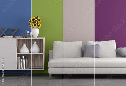 Collage Wohnraum - Farben - 70983870