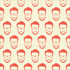 Background of an illustrated mans face repeated