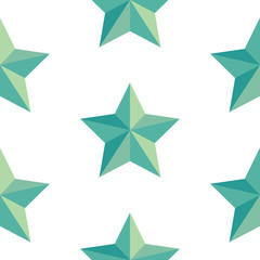 A seamless pattern of a green vector star