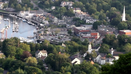 Maine small town USA time lapse shot
