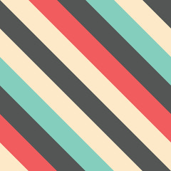 Retro seamless diagonal striped pattern
