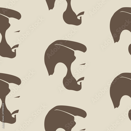 A repeating seamless pattern of a mans face - 70984412