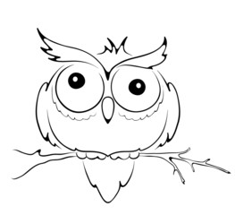 Graphic illustration -- funny owl