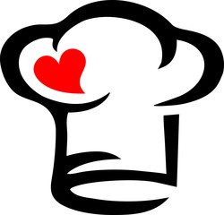Chef's Hat, Heart, Cooking with Love