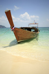 Thai boat in bay