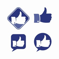 Like approve add thumb button social media