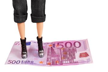Standing on Euro Money
