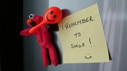 Cartel recordando sonreír