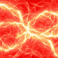 Red electrical lightning, abstract design