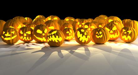 Halloween pumpkin invasion.