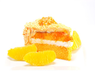 home made orange layer cake