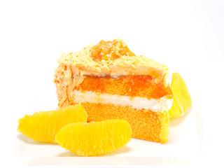 home made orange layer cake