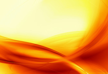 Hot orange flow background