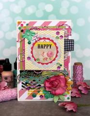 Bright handmade greeting card