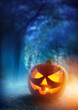 canvas print picture - Spooky Halloween Night