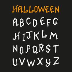 Hand Drawn Halloween Font