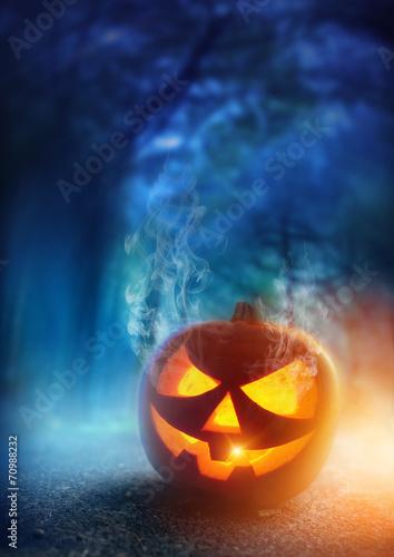 Leinwandbild Motiv Spooky Halloween Night