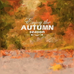 Autumn triangular background. Vector illustration