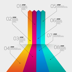 Minimal infographics. Vector template for interface or infograph