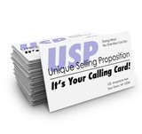 USP Unique Selling Proposition Your Calling Business Card Stak poster