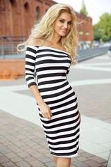 Sexy blonde woman posing