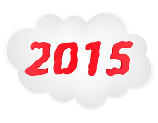 new year cloud vector illustration