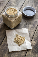 raw soy flakes