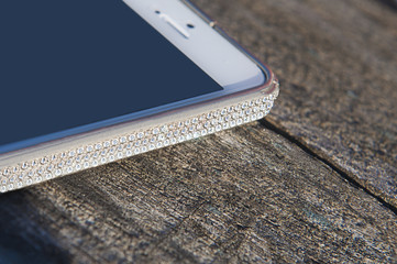phone with rhinestones