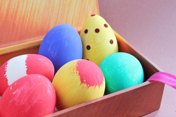 Hand Painted Easter Eggs in Gift Box