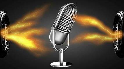 loop rotate Retro microphone