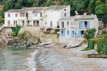 Houses by the beach in Corsica