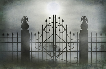 cemetery gate wide