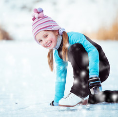 little girl skating