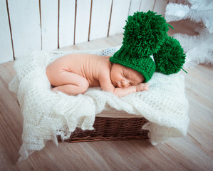 sweet newborn boy sleep