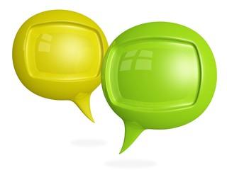 Discussion Chat 3D Speech Bubbles