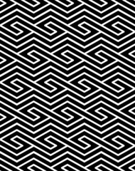 Contrast geometric seamless pattern with symmetric ornament. Rho