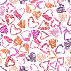 Hears seamless pattern, love valentine and wedding theme seamles