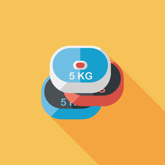 weightlifting plates flat icon with long shadow,eps10