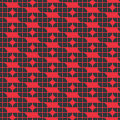 Vector colorful geometric background, red and black rhombic abst