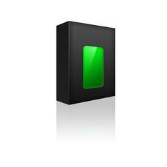 Boite neutre : rectangle vert