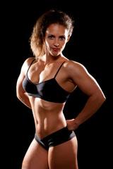 Sporty muscular woman