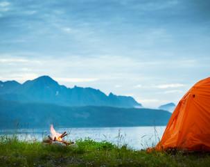 camping near seaside