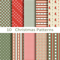 Set of ten Christmas patterns