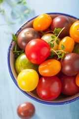 colorful tomatoes in bowl