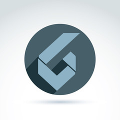 Vector conceptual corporate element. Abstract geometric accept s