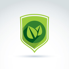 Ecology vector icon for nature and environment conservation them