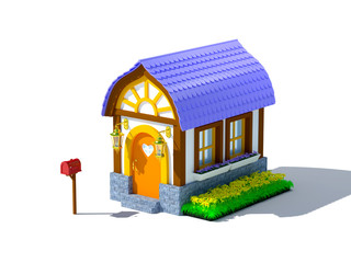 house with a mailbox
