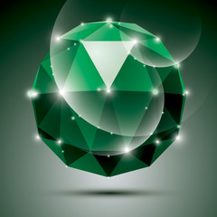 Vector stylish illustration, shiny emerald effect, eps10. Gala 3